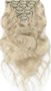 Clip in hair extensions set blond #60 / 70 gram / 50 cm
