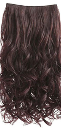 Clip in hair extension strook / Donker bruin / 50 cm