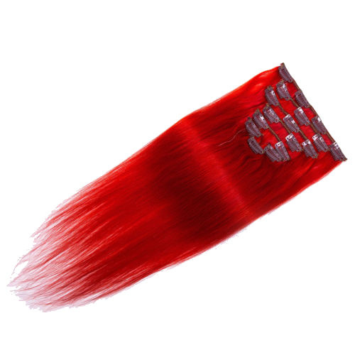 Clip in hair extensions set - red devil /  70 gram / 50 cm
