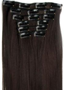 Synthetische clip in hair extension set /  2/33#  / 60 cm