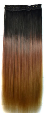 Clip in hair extension strook / Ombre #1b#-30 -27 / 60 cm