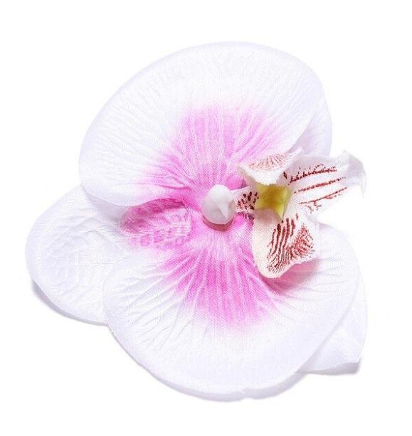 Haarclip / Witte orchidee bloem / bruiloft