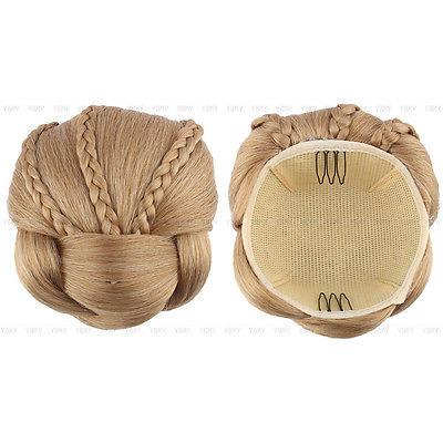 Knot / Blond gevlochten / schuifspeld