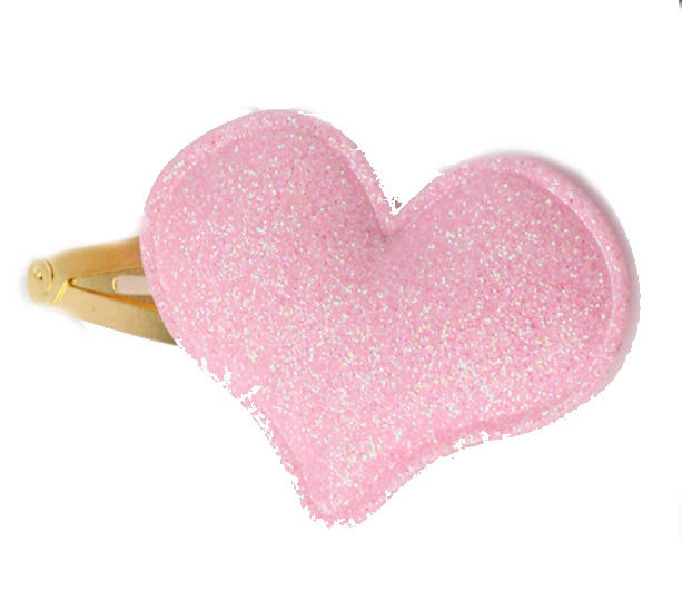 Haarspeld / Licht roze hart