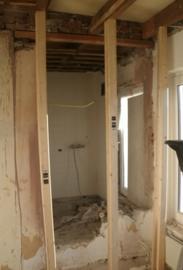 renovatie en vergroting badkamer
