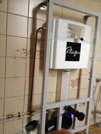 montage inbouw toilet