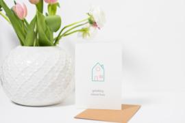 Dubbele kaart | Gelukkig nieuw huis