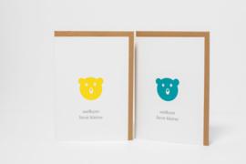 Dubbele kaart | Welkom lieve kleine