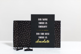 Ansichtkaart | Therapy and chocolate