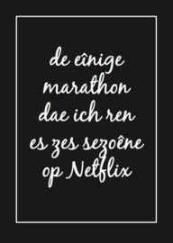 De eînige marathon dae ich ren es zes sezoêne op Netflix