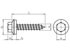Gevelconstructieschroef met zeskantkop en afdichtschijf Faba® type A  RVS