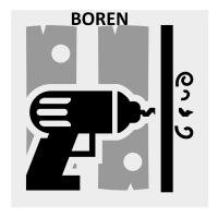 Boren SdS houtboren