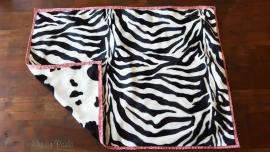 Zebra-Cow Mantas con Doble Diseño para Perros Pequeños