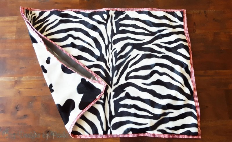 Zebra-Cow Two-Sided Bed Pillow Covers for Small Dogs