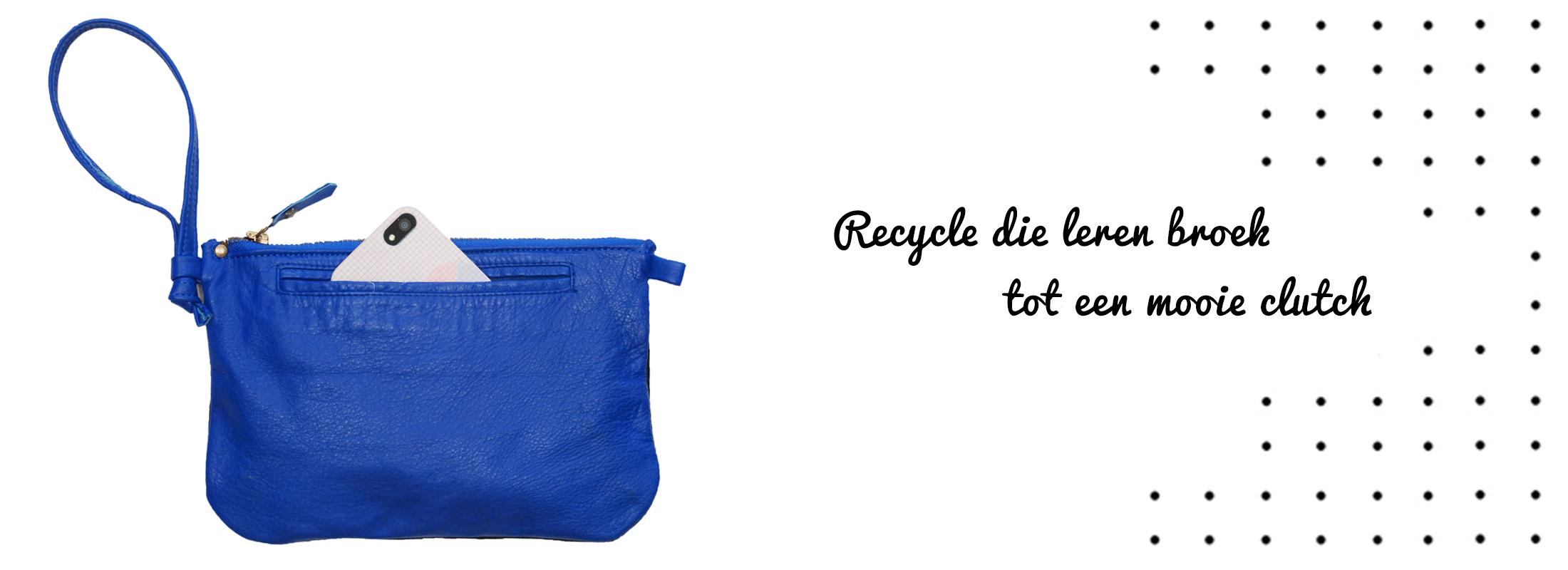 leer recyclen maak je eigen clutch