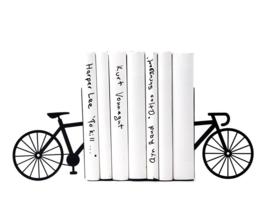 Boekensteun - Fiets Zwart - set van 2
