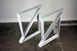 Metalen onderstel voor tafel - Design Z - Wit