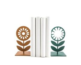 Boekensteun - Nordic bloemen - set van 2
