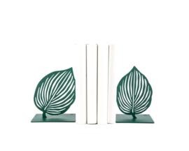 Boekensteun - Groen Blad - set van 2