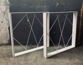 Metalen onderstel voor tafel - Anzio - Wit