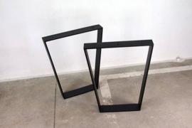 Metalen onderstel voor tafel - Trapezium - Zwart