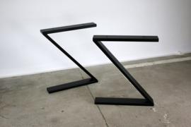Metalen onderstel voor tafel - Z - Zwart