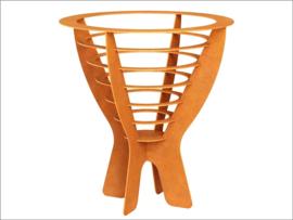 Corten FirePit | Delia | 57x57x63cm