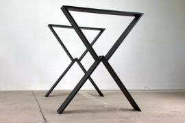 Metalen onderstel voor tafel - Loft - Zwart