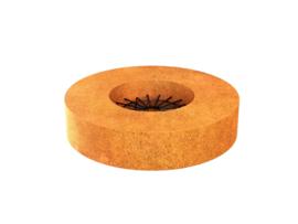 Corten vuurplaats ROMA 2 | 100x100x20cm | met rooster