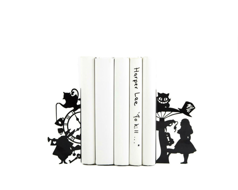 Boekensteun - Alice in Wonderland - set van 2