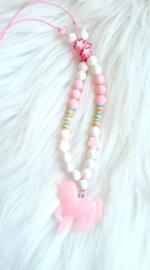 Kinderketting Unicorn roze/glitter