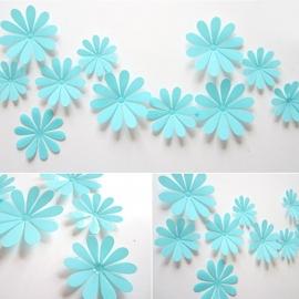3D muurstickers Bloem blauw