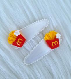 Haarspeldjes Mac wit/rood