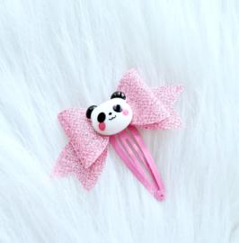 Haarspeldje strik panda