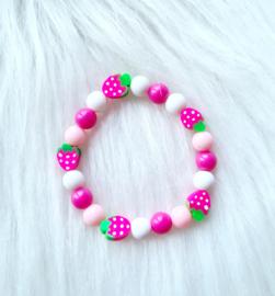 Armbandje Fruit roze