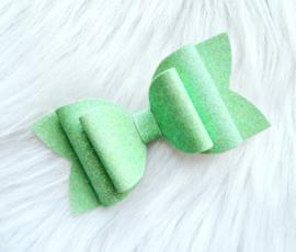 Haarstrik uni glitter mint groen
