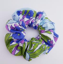 Scrunchie Retro blauw/paars