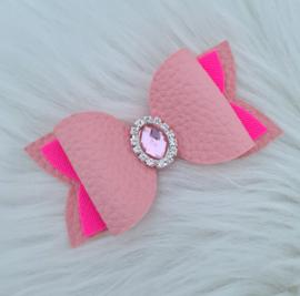 Haarstrik Eleanor roze/neon roze