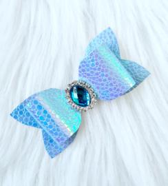 Haarstrik Glam holografisch blauw