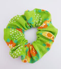 Scrunchie Retro Flower groen