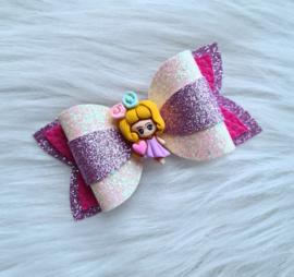 Haarstrik Girly roze/lila