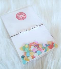 Top Juf confetti