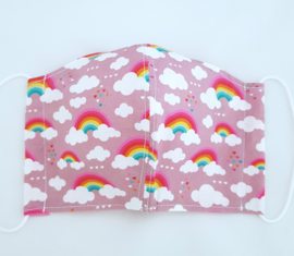 Mondkapje Rainbow pink