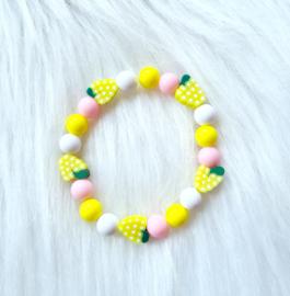Armbandje Fruit geel