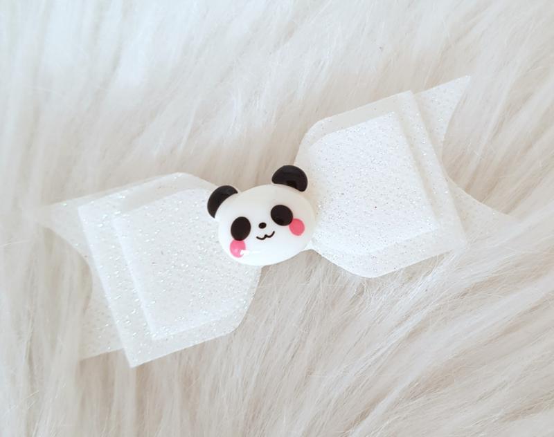 Haarstrik Panda wit