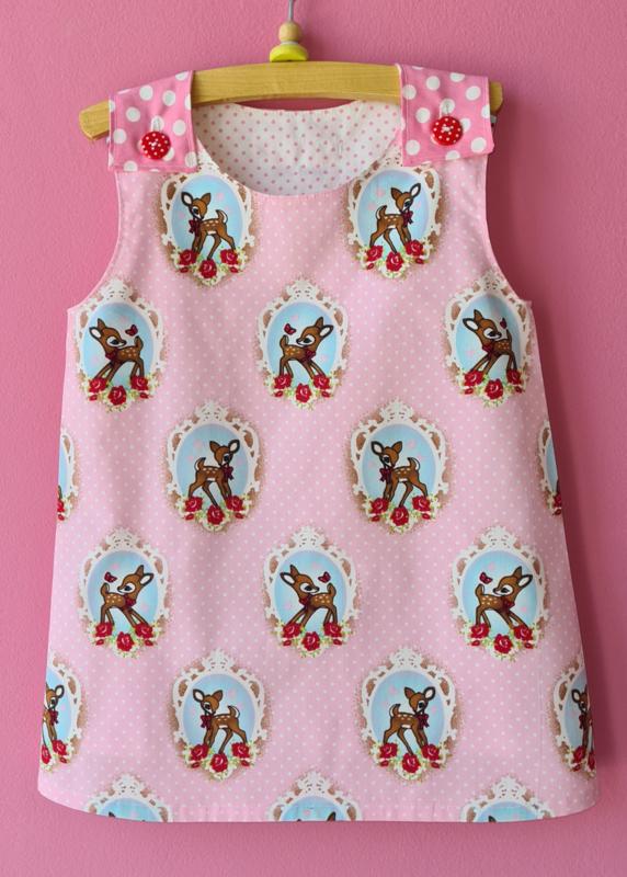 Retro jurkje Bambi Hertje roze