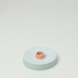 Kandelaar single Licht Blauw - Studio Harm en Elke