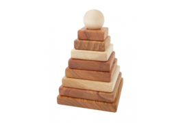 Houten Piramide Naturel - Wooden Story