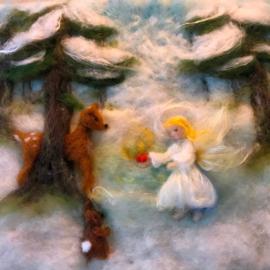 Engel met hertje