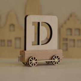 D | Houten lettertrein